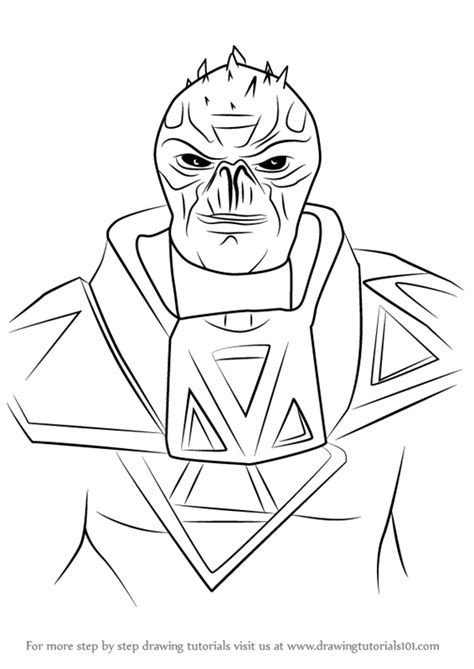 Learn How to Draw Zinyak from Saints Row (Saints Row) Step