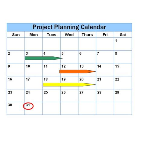 project calendar template project management calendar template