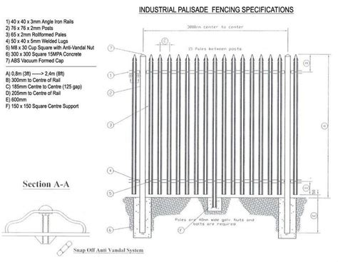 section security boundary wall palisade fence buy wire mesh fence for