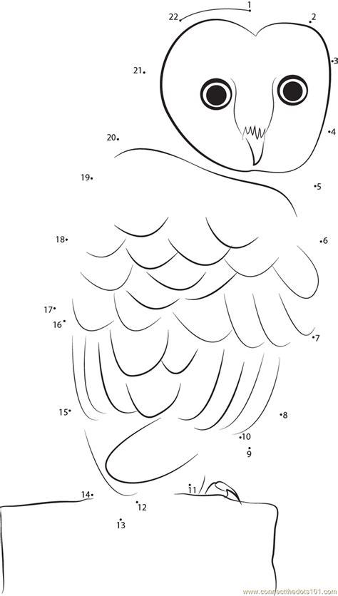 owl dot to dot printable common barn owl dot to dot printable worksheet connect