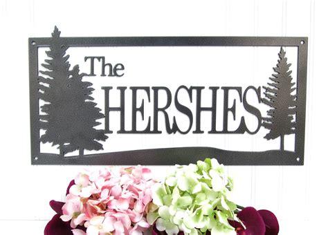 Handmade Name Signs - buy a handmade custom outdoor family last name metal sign