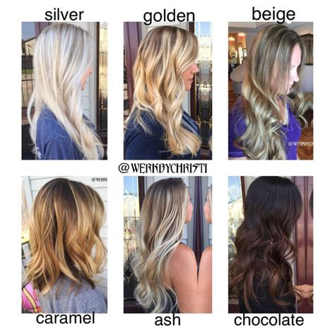 hair color types image result for different types of balayage hair hair