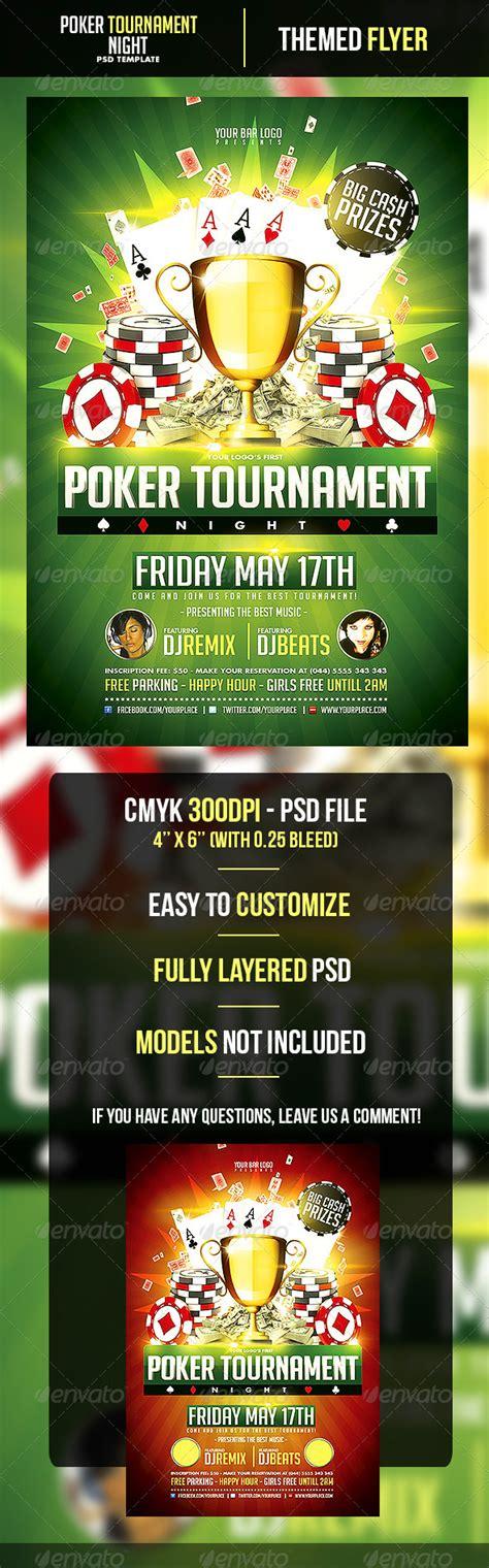 Poker Tournament Night Flyer Template By Odin Design Graphicriver Tournament Flyer Template
