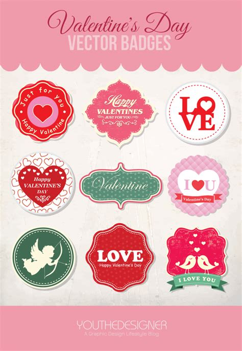 free valentines vectors 9 free s day vector badges