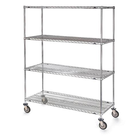 metro stainless steel wire shelf trucks 48 wx24 d shelf
