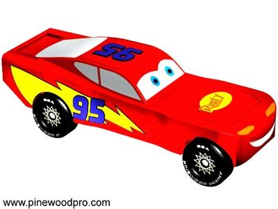Pinewood Derby Design Lightning Mcqueen Lightning Mcqueen Pinewood Derby Car Template