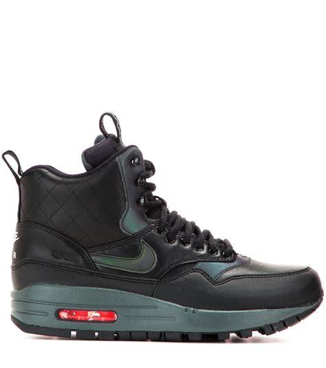 nike air max sneaker boot nike air max 1 mid sneaker boots in black lyst