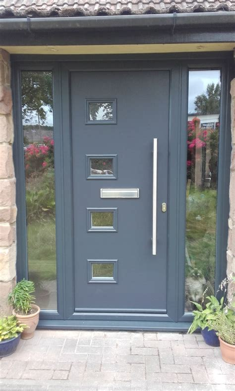 Contemporary Composite Front Door Our Modern Range Of Composite Doors Complete With A Stainless Steel Pull Handle Looks Stunning