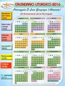 Calendario Liturgico 2018 Parroquia De San Luis Gonzaga Almer 237 A Calendario