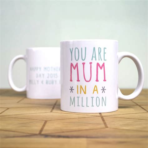 Mug Design For Mothers | personalised one in a million mothers day mug by oakdene