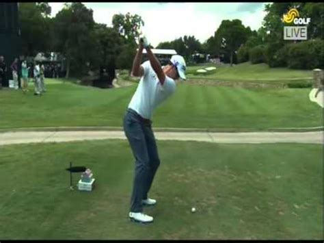 adam scott golf swing down the line adam scott iron swing down the line 2014 youtube