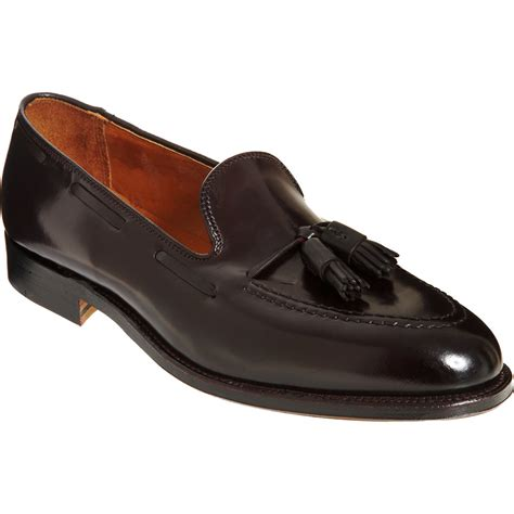 tassel loafer alden apron toe tassel loafer in brown for lyst