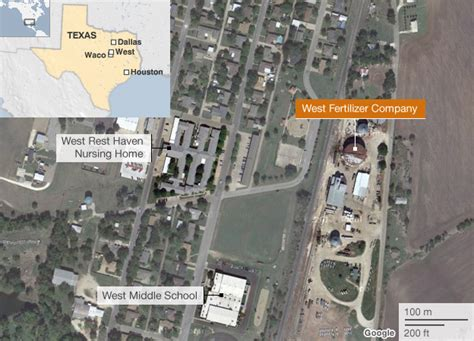 west texas explosion map texas waco fertiliser plant blast causes many casualties news