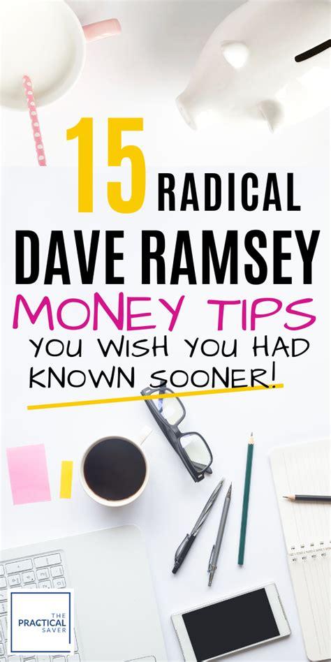 dave ramsey tips   smart money tips  dave