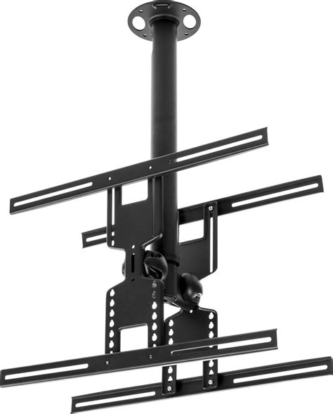 Lcd Tv Ceiling Mount Dual Flat Panel With Adjustable Bracket Ceiling Tv Bracket