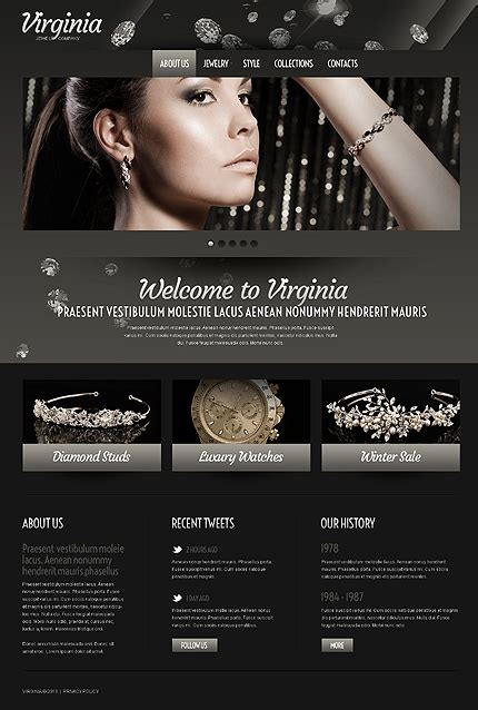 bootstrap templates for jewellery template 43100 virginia jewelry responsive website template