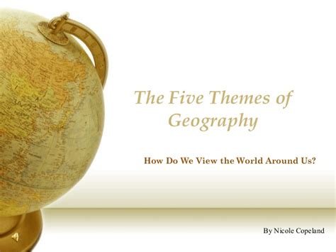 Five Themes Of Geography Powerpoint Geography Powerpoint Templates
