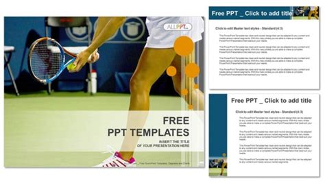 Young Female Tennis Player Sports Powerpoint Templates Athletic Powerpoint Templates