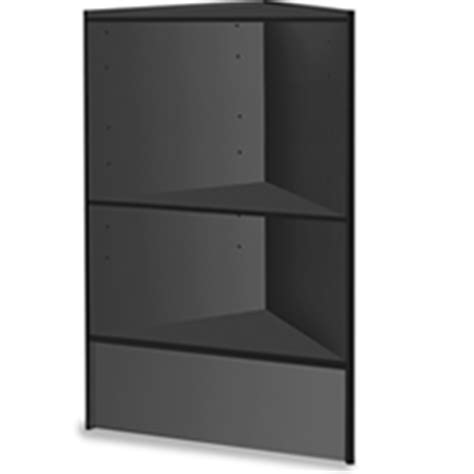 black corner with shelves wooden corner shelf