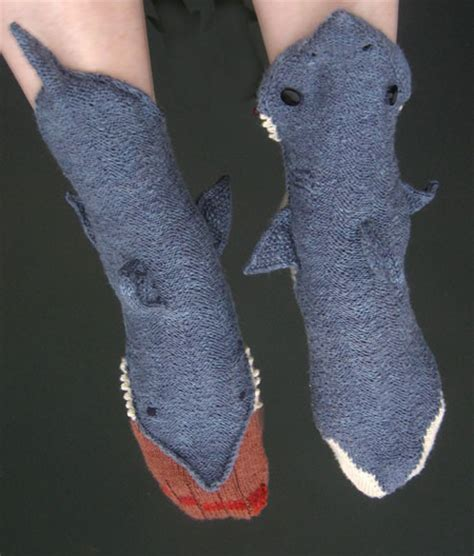 shark socks pattern download socks that look like sharks are eating your leg foot