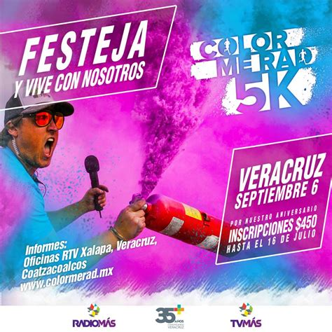 color me rad 5k invita rtv a participar en la color me rad 5k