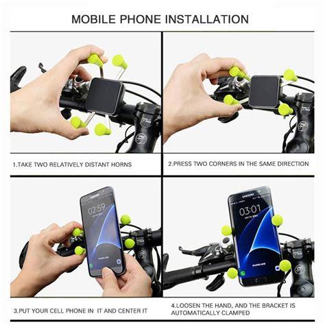 motorsiklet bisiklet gidon telefon gps tutucu lastik