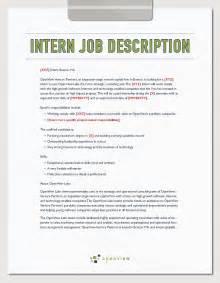 Intern Job Description Template And Hiring Plan Openview