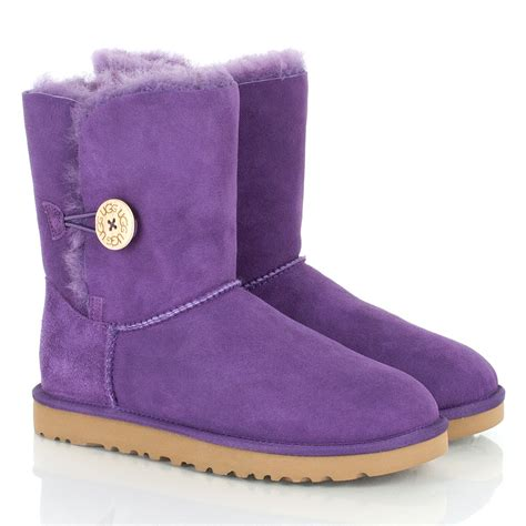 purple ugg boots ugg 174 purple bailey button womens flat calf boot