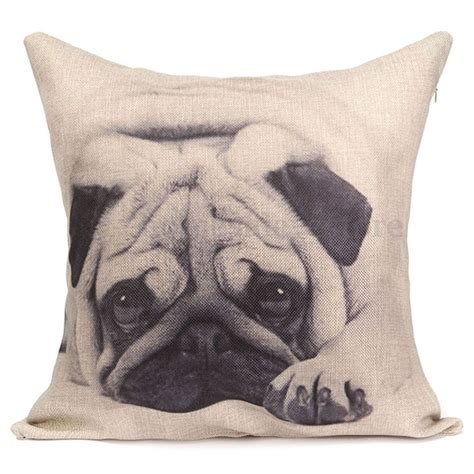 pug pillow animal pug square cushion cover decorative throw sofa pillow ebay