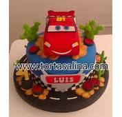 Torta De Cars Con Mc Queen Decorada Todos Los Adornos Modelados