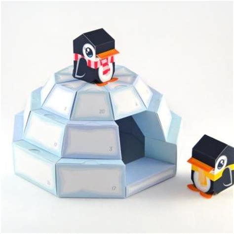 How To Make An Igloo Out Of Paper - igloo advent calendar printable paper craft pdf on luulla