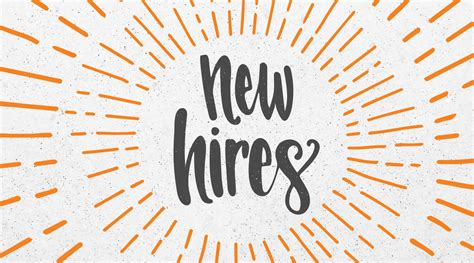 May New Hires ? HZDG BLOG