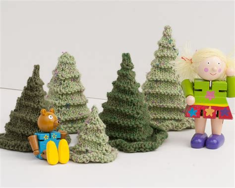 toy or christmas tree knitting pattern pdf by