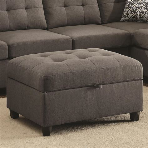 Gray Fabric Ottoman Stonenesse Grey Fabric Ottoman A Sofa Furniture Outlet Los Angeles Ca