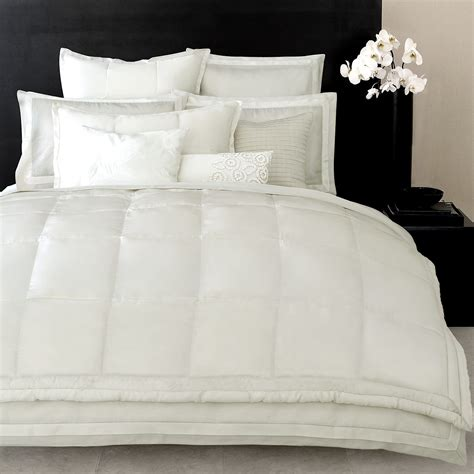 modern bed sheets donna karan quot modern classics quot bedding white gold bloomingdale s