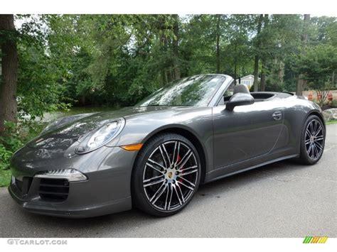 grey porsche 911 convertible 2015 agate grey metallic porsche 911 4s cabriolet