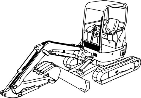 Mini Excavator Coloring Pages | excavator mini excavator hitachi ex50u coloring page