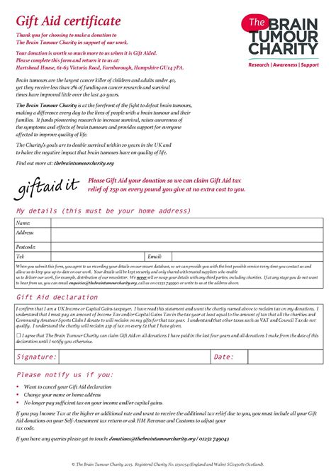 Aid Card Template by Gift Aid Certificate Template Gallery Certificate Design