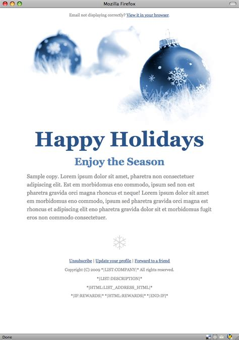happy holidays email card template tips for beautiful email templates with mailchimp