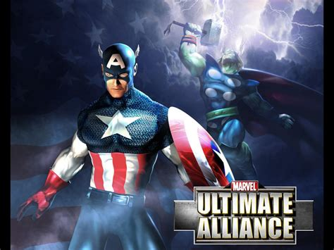 ultimate captain america wallpaper my free wallpapers games wallpaper ultimate alliance