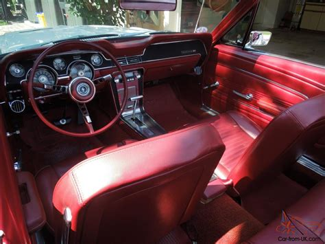 67 Mustang Interior by 67 Mustang Convertible Restored Wimbledon White