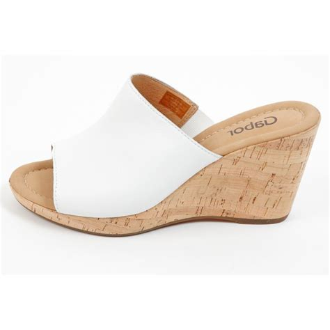 gabor shoes maple womens wedge sandal in white mozimo