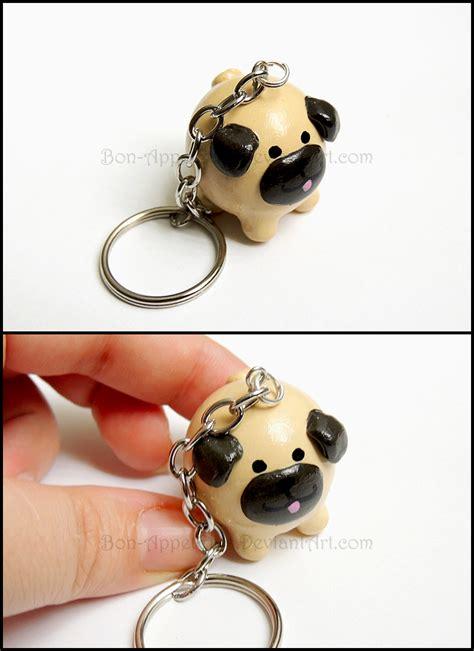 pug keychain commission pug key chain by bon appeteats on deviantart