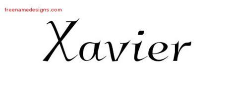 xavier tattoo fonts name designs xavier free free