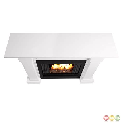 Ventless Fireplace Fuel by Hillcrest Ventless Gel Fuel Fireplace In White With Logs