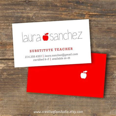 pencil notepad substitute teacher business cards zazzle com
