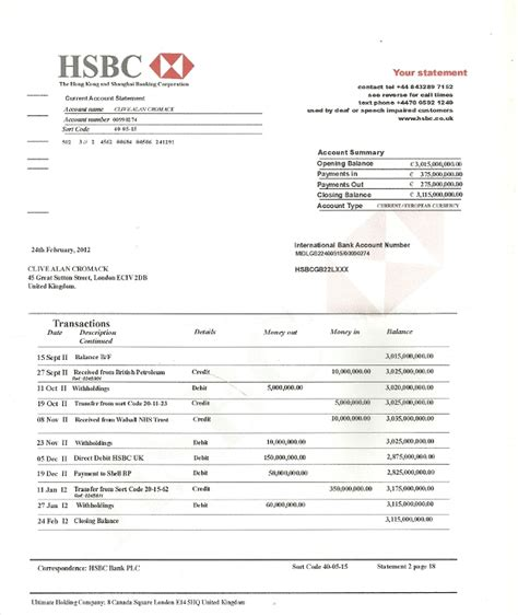 Hsbc Bank Statement Request Letter bank statement letter hsbc 28 images 7 hsbc bank