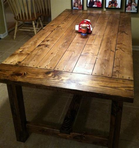 Diy Kitchen Table Plans White Farmhouse Table Diy Projects