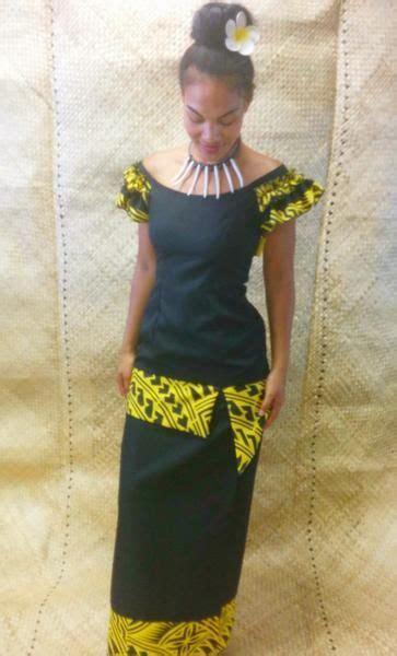 langis island styles ruffled shoulders black yellow