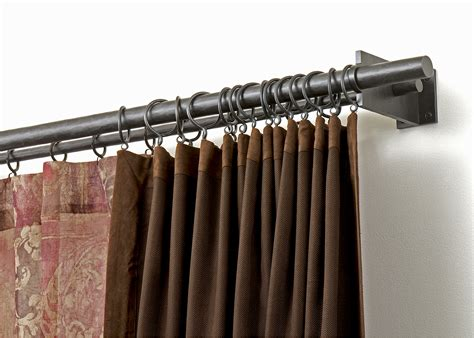 nice curtain rods nice double curtain rod for the home pinterest
